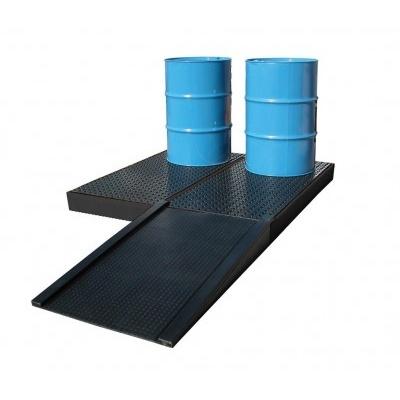 Nájezdová rampa k záchytné vaně (plošině)