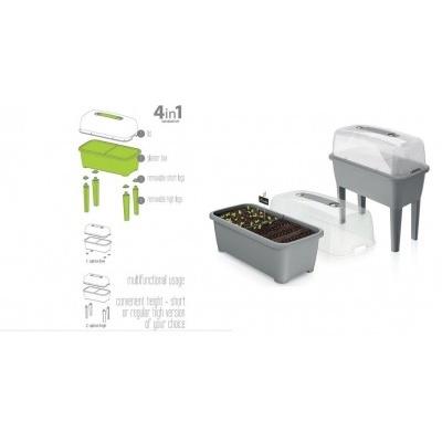 Sadbovač Respana planter set šedý kámen 77 cm