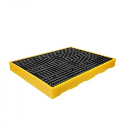 Záchytná podlaha pro 4 sudy žlutá (záchytný objem 300 l)