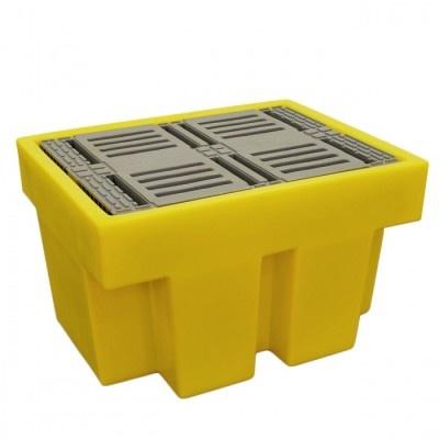 Záchytná vana pod jeden 200 l sud žlutá (záchytný objem 225 l)