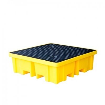 Záchytná vana pod čtyři 200 l sudy žlutá (záchytný objem 250 l)
