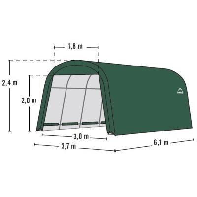 Plachtová garáž SHELTERLOGIC 3,7 x 6,1 m - 62760EU