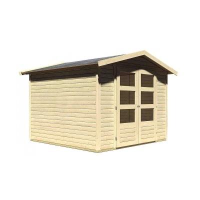 Dřevěný domek KARIBU AMBERG 4 (82973) natur