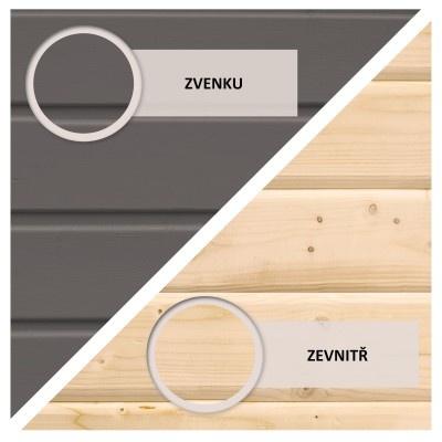 Dřevěný domek KARIBU ASKOLA 4 (91430) tm. šedý