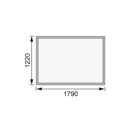 Dřevěný domek KARIBU MERSEBURG 2 (68150) natur