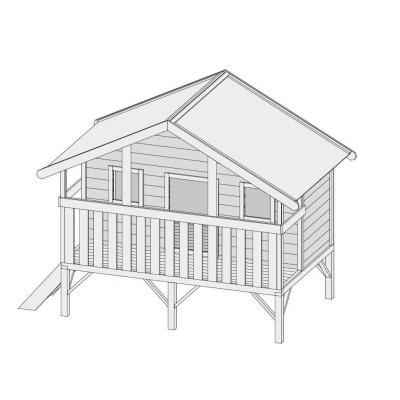Dětský domek KARIBU MAXI 82704