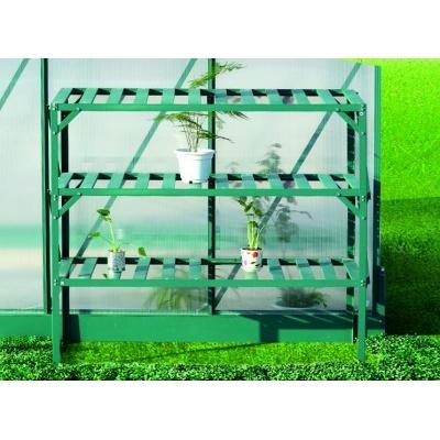 AL regál LANITPLAST 126x50 cm třípolicový zelený