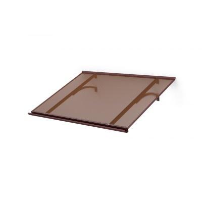 Vchodová stříška LANITPLAST MELES 120/85 hnědá