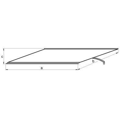 Vchodová stříška LANITPLAST MELES 120/85 bílá