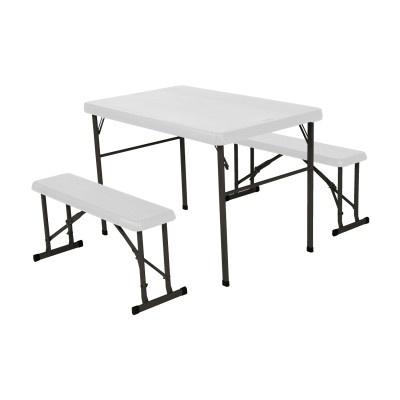 Campingový stůl + 2x laviceLIFETIME 80353 / 80352